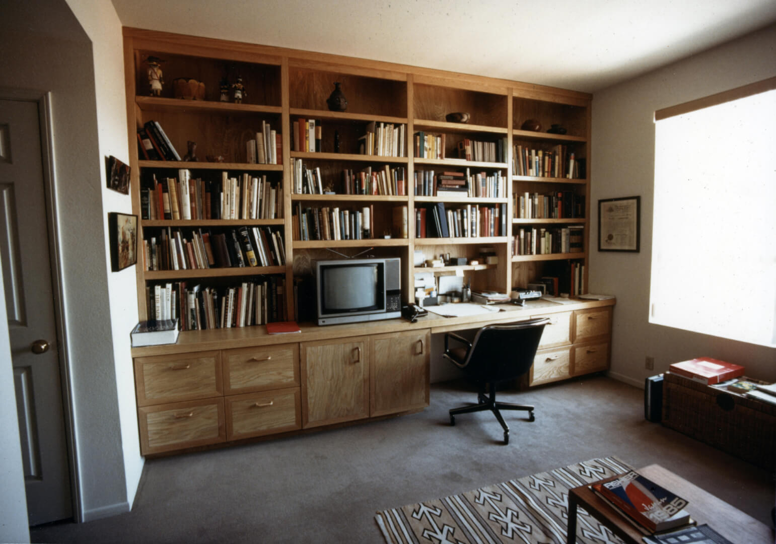Ash Desk Library Wall Unit Wedler Cabinetry