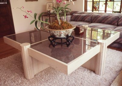 Granite-Topped Coffee Table