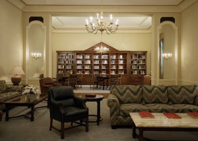 Library/Music Salon Bookcase: St. John's Seminary, Camarillo, CA