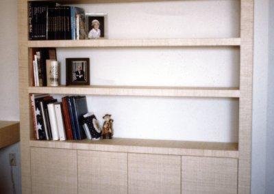 Grass Cloth Covered Bookshelf
