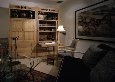 Desk, TV and Santa Fe Style Bookcase