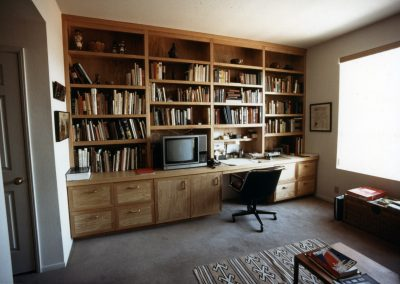 Ash Desk & Library Wall Unit