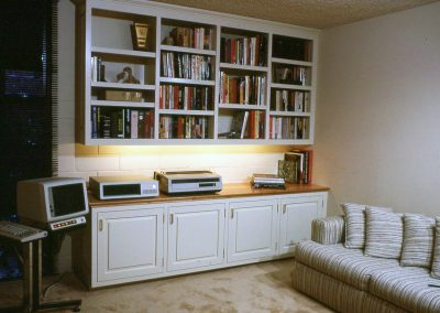 Built-In Bookshelves and Office Storage Cabinet