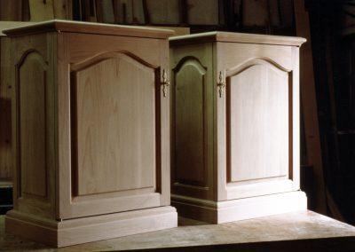 Alder End-Table Cabinets