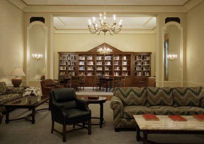 Library/Music Salon Bookcase: St. John's Seminary, Camarillo, CA